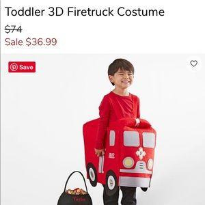 Pottery Barn kids 3T Firetuck costume